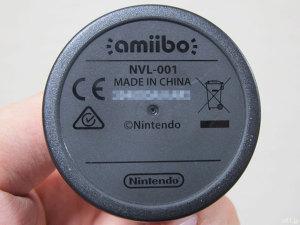 任天堂のキャラクターフィギュア「amiibo」マリオの底面